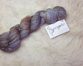 Hand dyed variegated multicolour yarn, DK weight - Hunebed