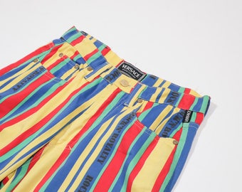 VERSACE - colored cotton pants
