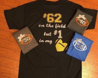 Football Girlfriend Shirt. Personalized Football Shirt. Football Shirt. Personalized Heart Football Shirt. Personalized Football Tshirt.