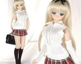 DAN-18。Dollfie Dream/SD/Smart Doll Knitted Zipper Top