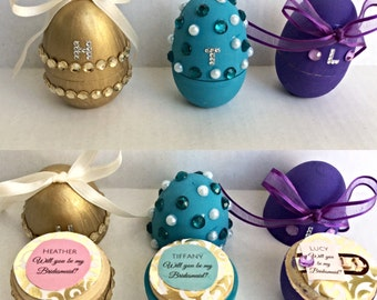 Easter Bridesmaid Gift, Easter Bridesmaid Proposal, Bridesmaid Box, Easter Egg Proposal, Easter Egg Bridesmaid, Will you be my bridesmaid