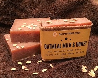 Oatmeal Milk & Honey Handmade Soap