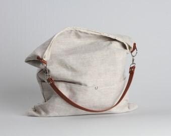Linen Bag, Bucket Bag, Beach Bag, Casual Tote Bag, Day Bag, Summer Tote, Hobo Tote, Linen Tote Bag, Natural,Boho Tote Bag, Weekend Bag,Bag