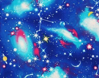 """Universe, Galaxy, Space Fabric Oxford made in Japan / Half Yard 45cm by 108cm or 18"""" by 43"""""""