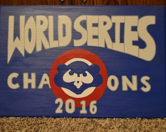 Chicago Cubs World Series Champions Plaque