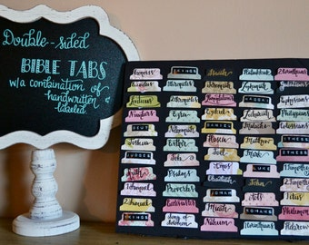 Double-sided bible tabs