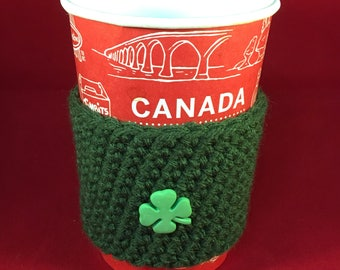 Hot or Cold Drink Cup Wrap, cup sleeve, cup sweater