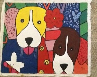 """Haitian Art """"Puppies"""""""