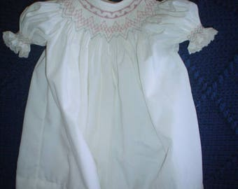 Hand Smocked Bishop Puff sleeve 2T