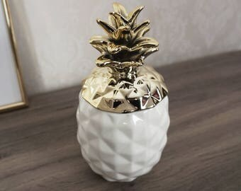 Gold Pineapple Storage Ornament