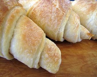 French Croissants, One Dozen, Homemade Bread, Homemade Croissants