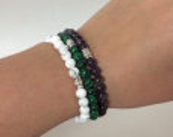 Gemstone Bracelets (6mm)