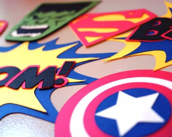 SuperHero Photobooth Accessories