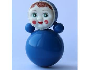 Soviet roly-poly toy . Nevalyashka. Vintage Celluloid. Tilting doll USSR. tilting doll. Soviet toy
