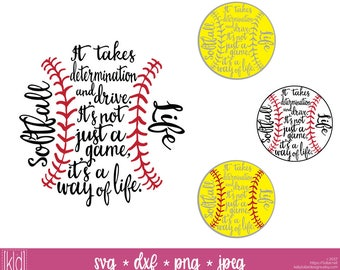 4 Softball Life svg - Softball svg - Softball Design - Softball svg files - Softball Mom svg - Softball Cut File - Softball Saying