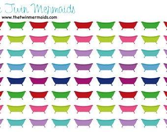 Bath Tub Planner Stickers - Bathtub