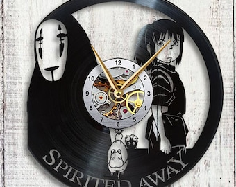 Spirited Away Vinyl LP Record Wall Clock
