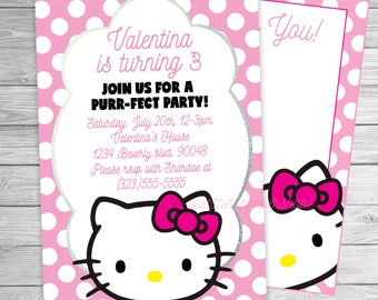 RESERVED 30 Hello Kitty Invitations  Hello Kitty Party Supplies