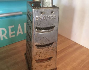 Vintage metal Bromco cheese / vegtable  box grater
