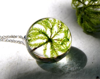 Resin Moss Pendant, Real Moss Necklace, Terrarium Necklace, Eco Resin Jewelry, Botanical Jewellery,  Eco Resin Necklace , Forest Jewelry,