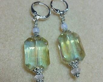 Pale Spring Green Earrings