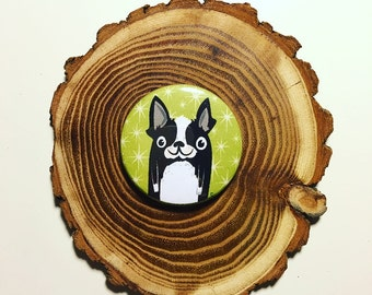 Boston Terrier Pin, Boston Terrier Magnet