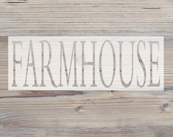 FARMHOUSE Vinyl Stencil // Customized Stencil // DIY Decor