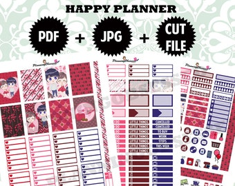 SALE 25% OFF/ Valentines Day Happy Planner Stickers/ Happy Planner Stickers / printable stickers