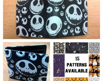 nightmare before christmas, mens wallet, choose from 15 patterns