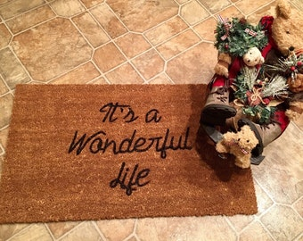 Christmas doormat | Etsy