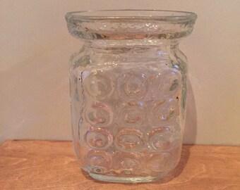 Circles Design Glass Vase - Vintage Swedish
