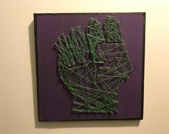 Incredible Hulk String Art