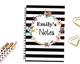 Notebook Journal Notes, Trave notes, wedding notes
