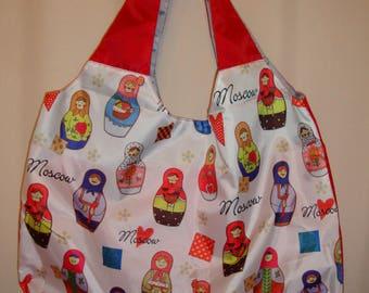 Russian Babushka Matryoshka Nestig Dolls Craft Original Sopping Bag Art