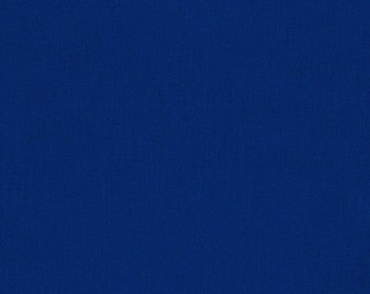 "20"" REMNANT - Kona Cotton Solid in Royal Blue by Robert Kaufman, #KONA-OCEAN, 44/45″, 100% Premium Cotton for quilting, apparel"