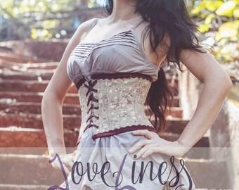 "Underbust corset ""Sensual shell"""