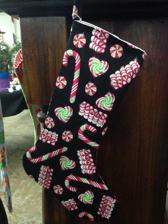 Old fashion christmas candy stocking candy stocking for Fashion christmas stockings