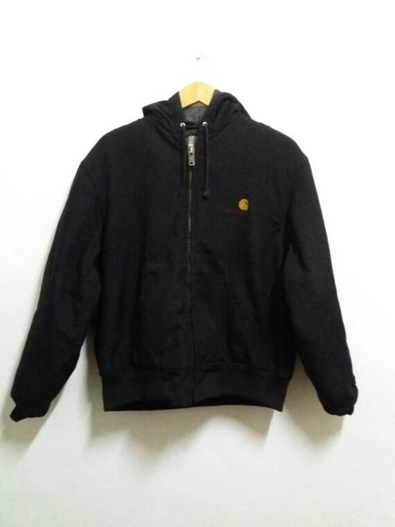 Vintage Carhatt Hoodie jacket pullover/spellout/black/Large/casual/hiphop 8TXDe8dFV