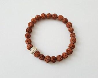 "Yoga Mala Bracelet ""Rudraksha Silver"" - Anahata Boutique"