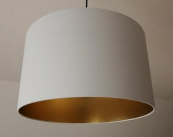 "Lampshade ""light grey-gold"""