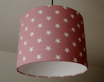 """Lampshade """"Stars"""" (dusty pink)"""