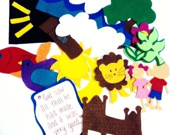 Creation Story Felt Storyboard 7 Days**Sunday School/Homeschool**