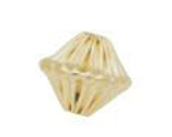 8mm Gold Filled Corrugated Bicone Bead 14/20kt.
