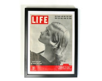 1952 Front cover of Life Magazine with Barbara Ann Scott