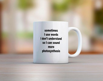 Sometimes I Use Words I Don't Understand Mug