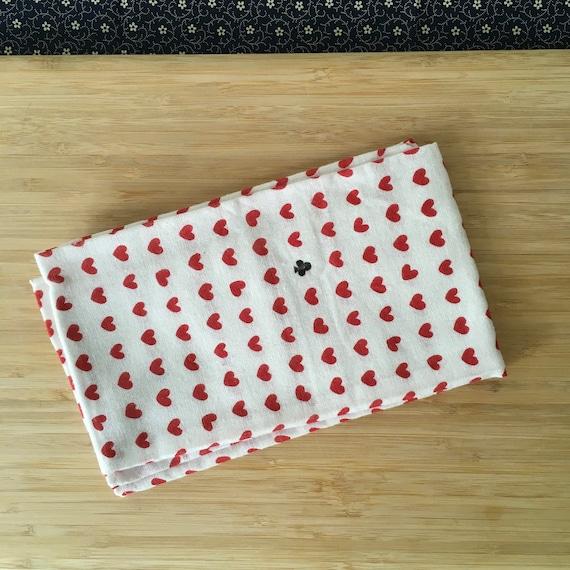 Kendo Tenugui, Japanese Cotton Tenugui - Mameshibori Red from Kendo Girl