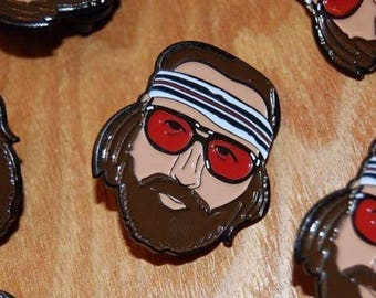Limited Edition Wes Anderson inspired Richie Tenenbaum Soft Enamel Pin
