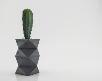 Bluestone Double Tier Geometric Planter / Concrete Pot / Cactus Pot
