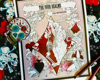 Adult Coloring Book - The Four Realms