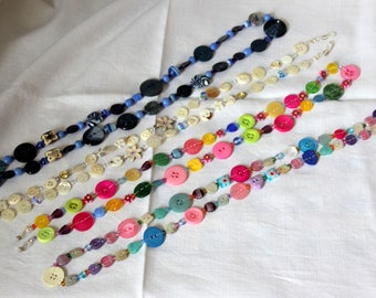 Button and bead glasses chain